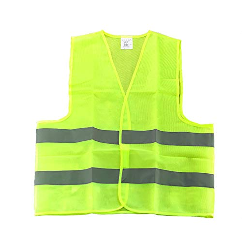 Blue Vesse Gelbe Warnweste mit reflektierenden Streifen Warnkleidung Kaikso-In Yellow Safety Vest with Reflective Strips by Kaikso-In (1) Polyester Traffic Safety Vest