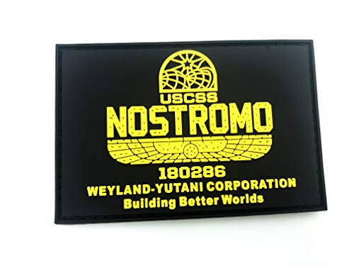 USCSS Nostromo Alien Weyland Yutani PVC Airsoft Paintball Klettverschluss-Flecken Kader Patch