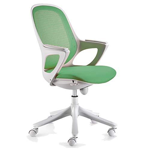KS-Furniture Bürostuhl MAGLO Grün Stoff Schreibtischstuhl Drehstuhl Bürosessel mit Armlehnen