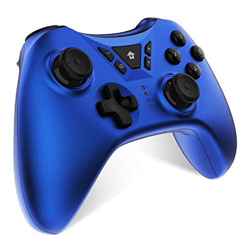 Switch Pro Controller, Wireless Rechargeable Switch Gamepad for Nintendo Switch, Supports Gyro Axis, Turbo And Dual Vibration Blue (Blue)