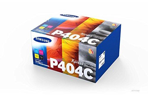 Samsung CLT-P404C Multipack (Schwarz, Cyan, Magenta, Gelb) Original Toner + Cashback (4 Toner Value Pack)