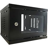"4u 10"" 300mm SOHO Deep Black Wall Mounted Data Cabinet Comms Rack Server Cabinet"