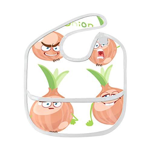 Dibujos animados Sonreír Cebolla Verduras Suave Resistente...