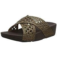 FitFlop Women's Twine LULU Slide Open Toe Sandals, Brown (Bronze 012), 5 (38 EU)