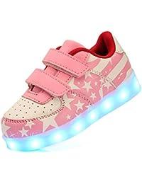 5c419e508537a9 DoGeek LED Schuhe Kinder 7 Farbe USB Auflade Leuchtend Sportschuhe LED  Sneaker Turnschuhe (Wählen Sie