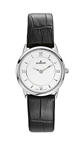 Dugena Women's Quartz Watch with Silver Design Analog Quartz Leather 4460437