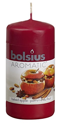 Aromatic-103626640126-Baked-Apple-Pillar-Candle-Paraffin-Wax-Red