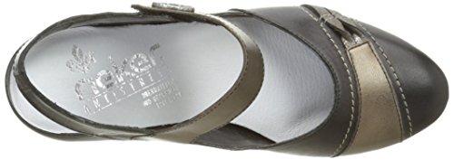 Rieker Damen 45062 00 Pumps Noir (Schwarz/Oro/Altsilber/Schwarz)