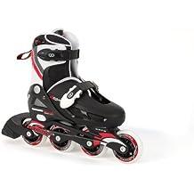 Osprey Boys Inline Skates- Patines en línea para niño, Multicolor (Black/White/Red), talla 31 - 33 EU (12-1)