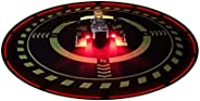 Drone Landing Pad with Night Lights, Universal 70 cm/27.5 Folding Parking Apron for RC Quadcopter, Fits DJI Ph