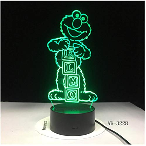Elmo Big Bird Grouch Tischlampe Farbwechsel Lampen Child Nightlight Usb Flexible Lampe Luminaria Lamparas-remote control