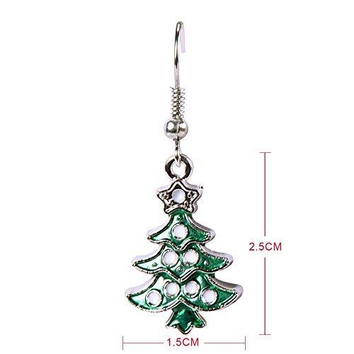 LAEMILIA Ohrhänger Weihnachtsbaum Modeschmuck Ohrringe Glitzer Grün Weihnachten (Weihnachtsbaum)