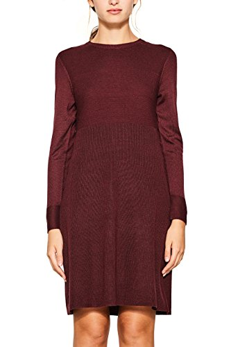 edc by ESPRIT Damen Kleid 107CC1E009 Rot (Bordeaux Red 600), Small