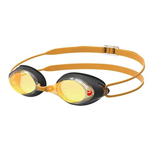 SWANS verspiegelte Schwimmbrille SRX-M PAF - Wettkampf Brille Mirror, Farbe:Smoke orange (SMOR)