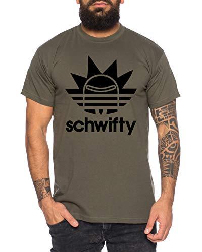 Adischwifty Camiseta de Hombre Morty Dan Sanchez Mr Rick Meeseeks Harmon, Größe2:Medium, Farbe2:Caqui