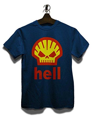 Hell Skull Logo T-Shirt Navy Blau