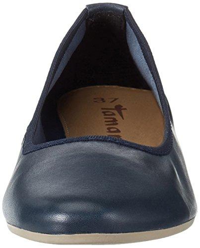 Tamaris Damen 22128 Geschlossene Ballerinas Blau (NAVY 805)