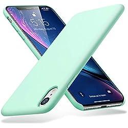 """ESR Funda iPhone XR, Funda Silicona Líquida con [Tacto Agradable] [Protección contra Caídas] [Anti-Arañazos] para iPhone XR DE 6.1""""-Menta"""