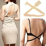 Best Bra For Backless Dress - LussoLiv Women's Adjustable Low Back Bra Strap Converter Review