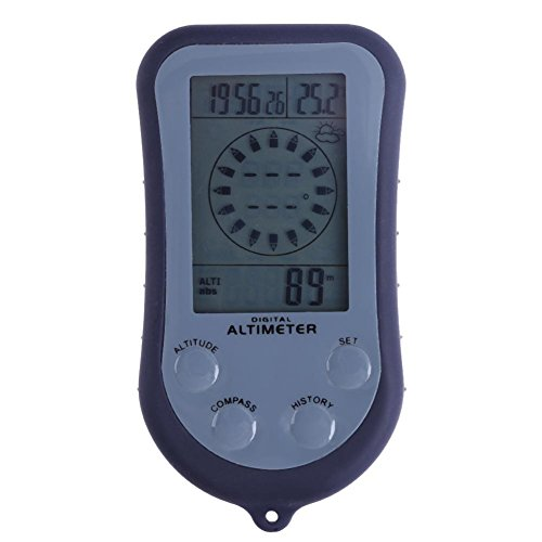 prosperveil 8in 1Digitaler Kompass + Höhenmesser + Barometer + Thermometer + Wettervorhersage