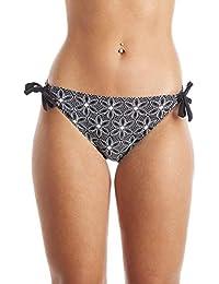 5fec7d8c89eac Camille Womens Ladies Swimwear Black Floral Tie Side Bikini Bottom Brief