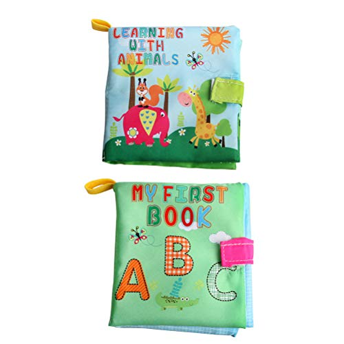 3 pcs Cloth Book Early Educational Non-Toxic Washable Preschool Learning Books Fabric Toy for Toodler