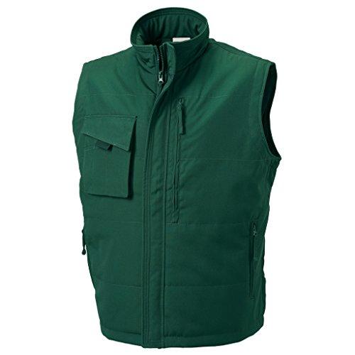 MAKZ - Manteau sans manche - Homme vert bouteille