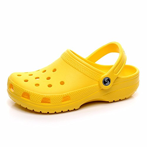 Sommer neuen Jungen europäischen römischen Loch Schuhe Casual Sandalen dicken unteren Sport Strand Schuhe Garten weichen Boden Sandalen Outdoor Schuhe Männer,Gelb US=6,UK=5.5,EU=38 2/3,CN=38