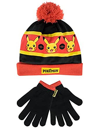 f946bea8f8a Pokemon Boys Pikachu Hat and Gloves Set Multicoloured One Size ...