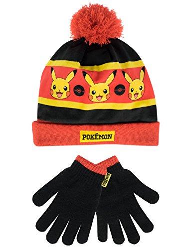 Pokemon Jungen Mütze & Handschuh Mehrfarbig Einheitsgröße