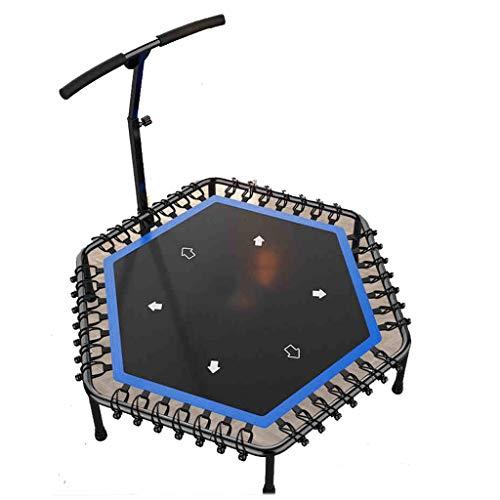 XYWLYLHOME Sporttrampolin FüR Erwachsene - Indoor-Fitness-Trampolin Mit Verstellbarem Griff - Faltbar - 48 Zoll