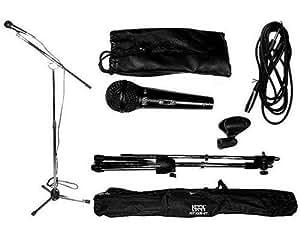 Kit pied de micro téléscopique +micro +sac KMS-07