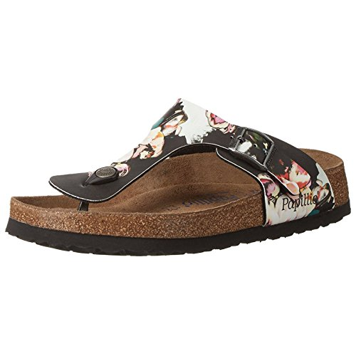 Papillio Womens by Birkenstock Gizeh Synthetic Sandals Painted Bloom Black