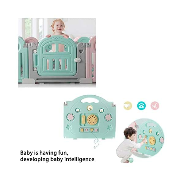 Baby Playpen HUYP Baby Fence Safety Pet Fence Children's Foldable Playpen Kids Activity Centre (Size : 18 small pieces) Baby Playpen  6