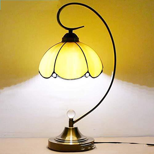 Lámpara de mesa de vidrio de color Tiffany