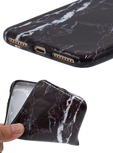 "iPhone 7 4.7"" Téléphone Case,[BENKER] IMD Technologie TPU Matériau Coque De Protection Anti-rayures Motif De Marbre Choc Téléphone Ultra-mince Cas et Protecteur D'écran En Verre - Marbre 3 Marbre 12"