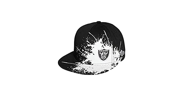 New Era Men Caps Fitted Cap Splatways Flawless Oakland Raiders 59Fifty Black  8-63 4bdeb0702d19