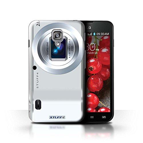 Kobalt® Imprimé Etui / Coque pour LG Optimus L7 II Dual / Instantanée Retro conception / Série Appareil Photo Compact