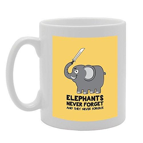 Elefantes nunca olvida y que nunca perdonar único marido Regalos para él taza regalo para regalos de cumpleaños para hermano Inspirational taza para mamá Papá impresionante café taza 11oz