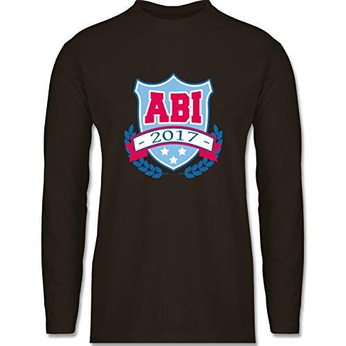 Abi & Abschluss - ABI 2017 Badge - Longsleeve / langärmeliges T-Shirt für Herren Braun