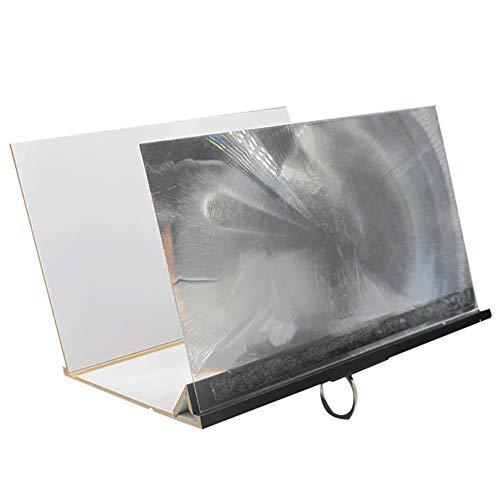 Upgrade Bildschirmlupe, hofire Manoeuvrable 3D HD Big Video Verstärker Projektor mit faltbarem Halter Ständer für iPhone X/XR/8 totalling/7ruff keenness und alle Anderen Smartphones (schwarz)