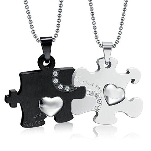 Paare aus Edelstahl Halskette