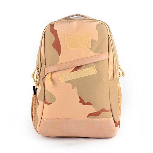 YAKEDA® Students 'Rucksack, Schultasche, Laptop Rucksack militärischen taktischen Computerrucksack, Wandersack - A88062 (Drei Sand Tarnung) Drei Sand Tarnung