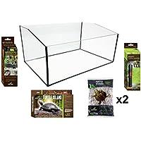 Diseño Planet Kit terrarios para Reptiles Tortuga acuático 60x 40x 28cm