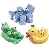 Fansport 12 STÜCKE Baby Badespielzeug Lustige Kreative Badewanne Spielzeug Quietschende Spielzeug Baby Dusche Spielzeug