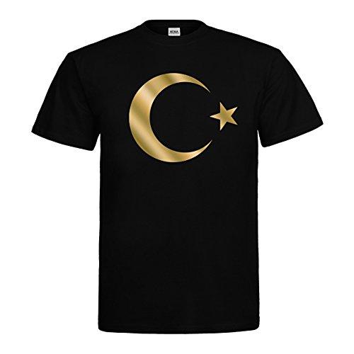 MDMA T-Shirt Türkei Mondstern N14-mdma-t00660-3 Textil black / Motiv gold Gr. L