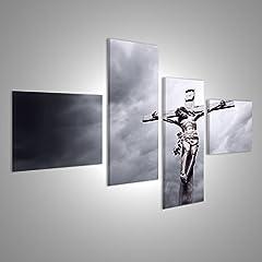 Idea Regalo - islandburner Quadro Moderno Crocifissione di Gesù Cristo Religioso Stampa su Tela - Quadro x poltrone Salotto Cucina mobili Ufficio casa - Fotografica Formato XXL