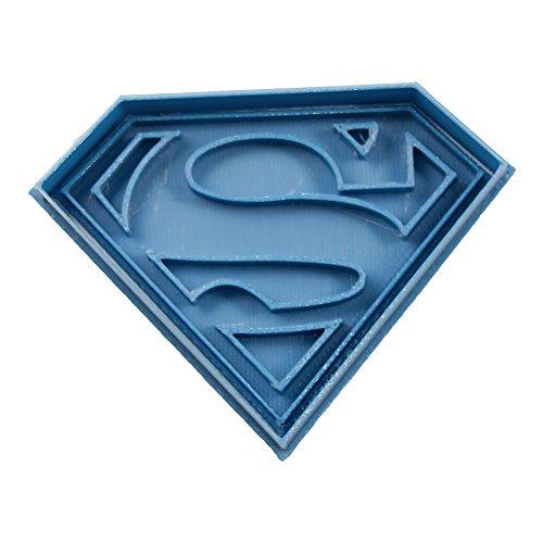 Cuticuter Superhelden Superman Ausstechform, Blau, 8x 7x 1.5cm