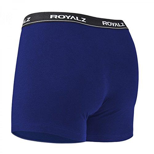 ROYALZ Unterhosen Herren Boxershorts 10er Set klassisch für Sport und Freizeit, 10er Pack (95% Baumwolle / 5% Elasthan) 10 x Blau
