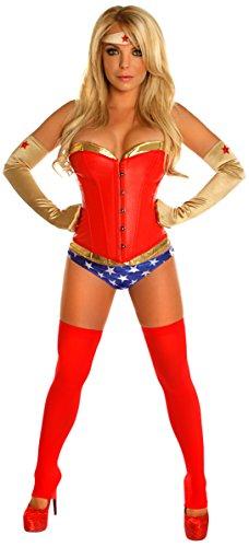 Kostüm Superhelden Übergröße - Gänseblümchen-Corsets, sexy Superhelden-Kostüm, 4 Stück - Rot - 4X
